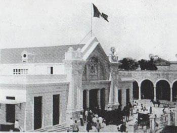 Fachada original del mercado grande Lucas de Gálvez