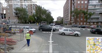 Vista de una calle de Madrid España