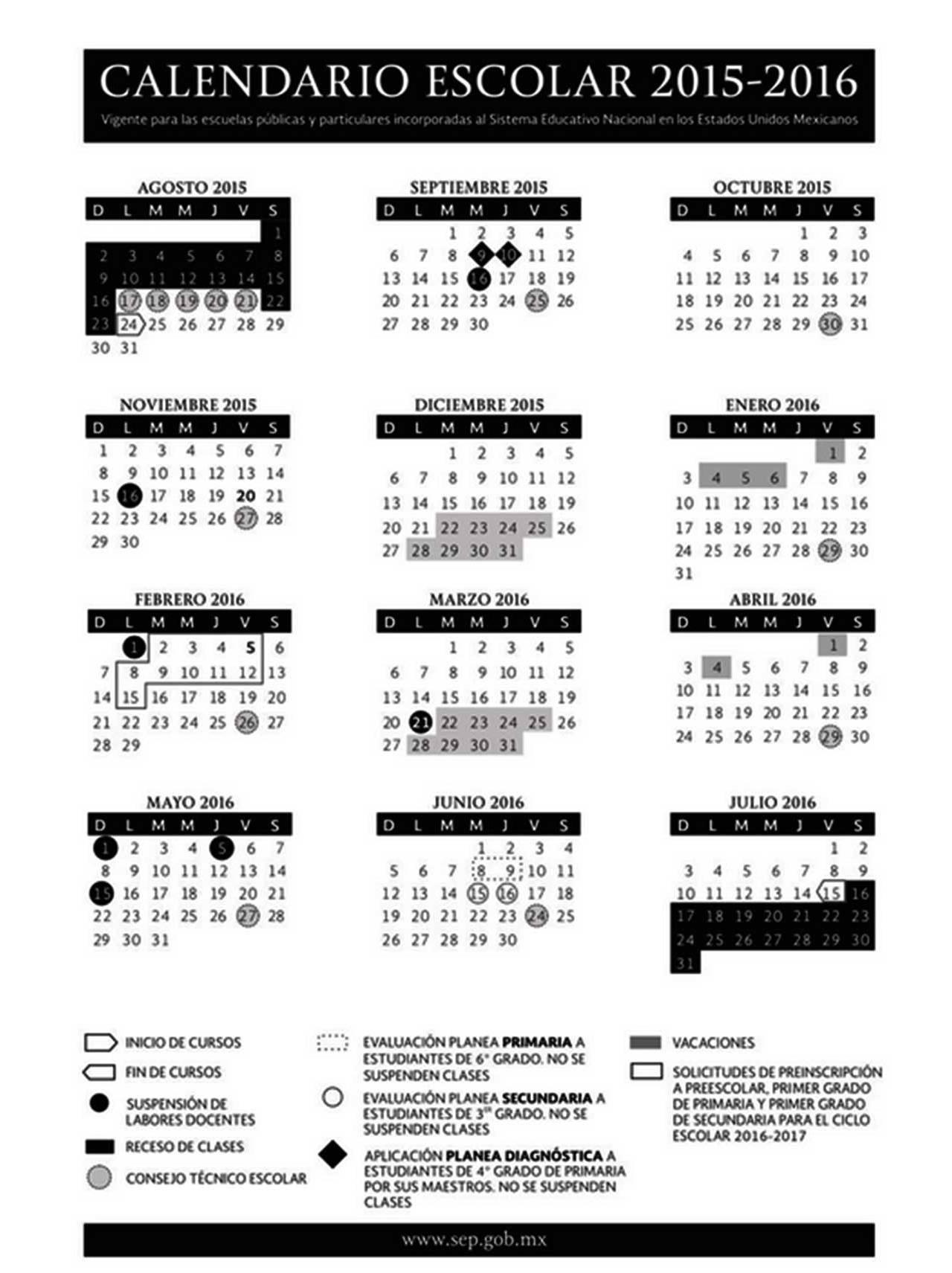 2015-2016, al cual deben ceñirse escuelas públicas y privadas, de ...